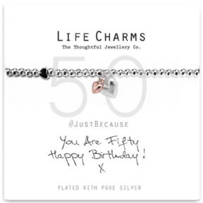 Life Charms You Are 50 Silver Plated Bracelet